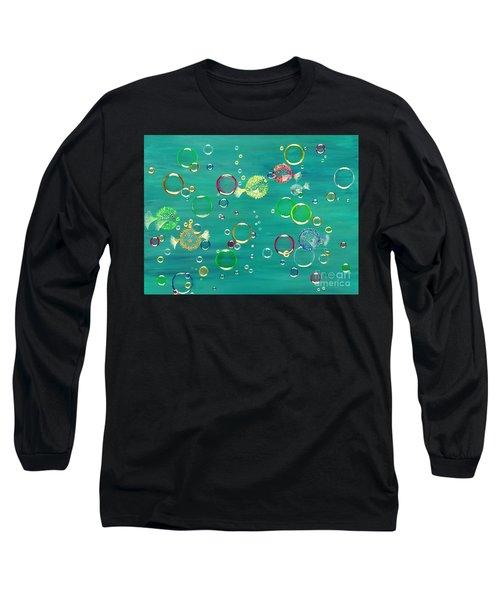 Pufferfish Rainbow Long Sleeve T-Shirt