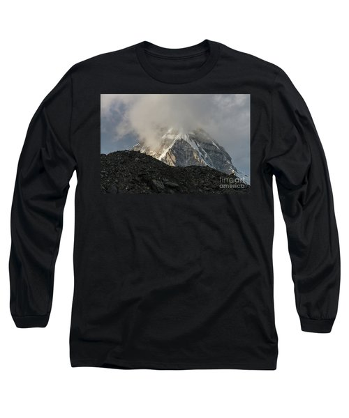 Long Sleeve T-Shirt featuring the photograph Pumori Dusk Light by Mike Reid
