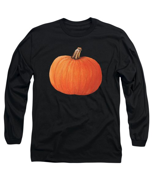 Pumpkin Long Sleeve T-Shirt by Anastasiya Malakhova