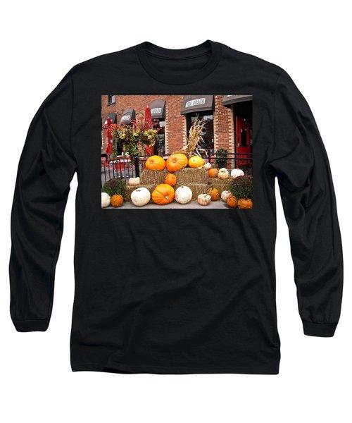 Pumpkin Display Long Sleeve T-Shirt by Stephanie Moore