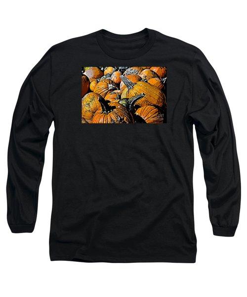 Long Sleeve T-Shirt featuring the photograph Pumpkin Sale  by Juls Adams