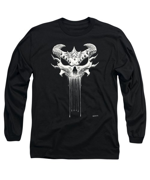 Dragon Skull T-shirt Long Sleeve T-Shirt by Stanley Morrison
