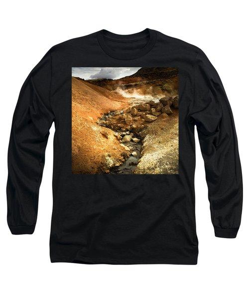 Pure Iceland - Geothermal Area Krysuvik Long Sleeve T-Shirt