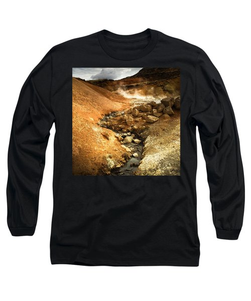 Pure Iceland - Geothermal Area Krysuvik Long Sleeve T-Shirt