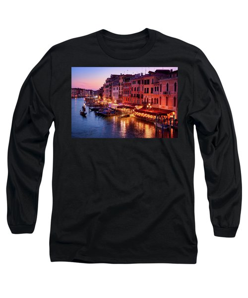 Cityscape From The Rialto In Venice, Italy Long Sleeve T-Shirt