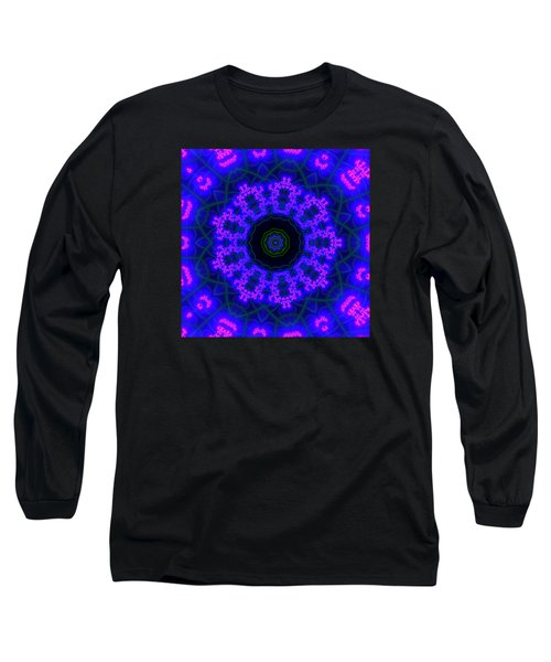 Purple 9 Lightmandala Long Sleeve T-Shirt by Robert Thalmeier