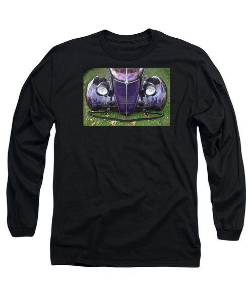 Purple Antique Ford Long Sleeve T-Shirt by Kathy M Krause