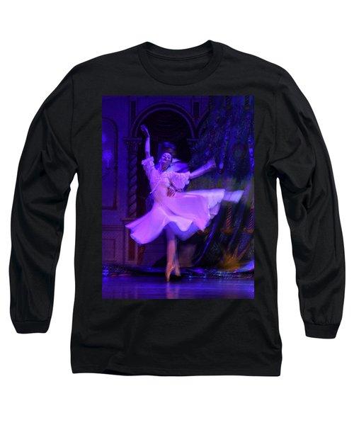 Purple Ballet Dancer Long Sleeve T-Shirt