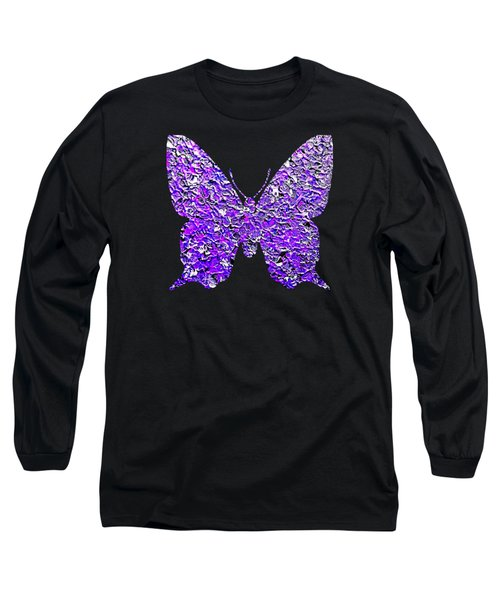 Purple Butterfly  Long Sleeve T-Shirt
