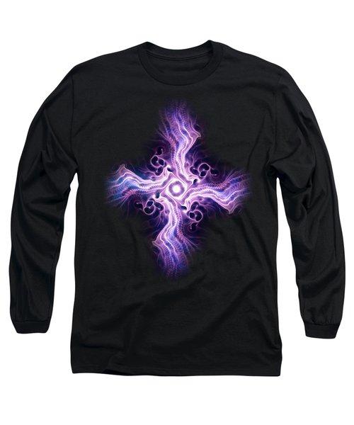 Purple Cross Long Sleeve T-Shirt