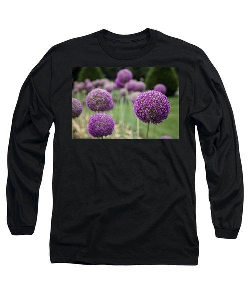 Long Sleeve T-Shirt featuring the photograph Purple Depth by Jason Moynihan