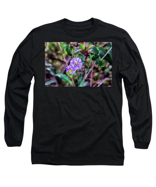 Purple Flower Family Long Sleeve T-Shirt