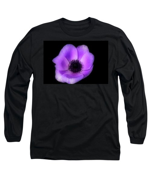 Purple Flower Head Long Sleeve T-Shirt