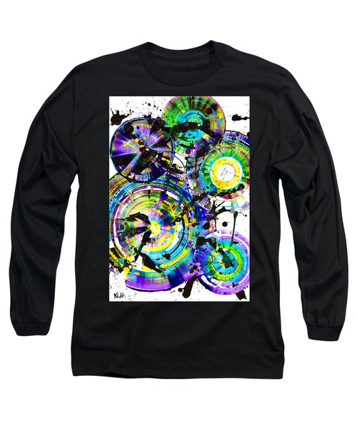 Purple Haze Spheres And Circles 1509.021413 Long Sleeve T-Shirt by Kris Haas