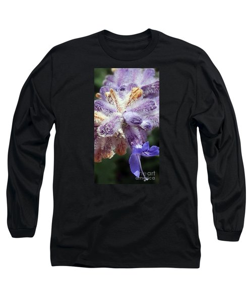 Purple Iced Blue New Mexico Wildflower Long Sleeve T-Shirt