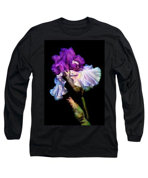 Purple Iris Long Sleeve T-Shirt by Dave Mills