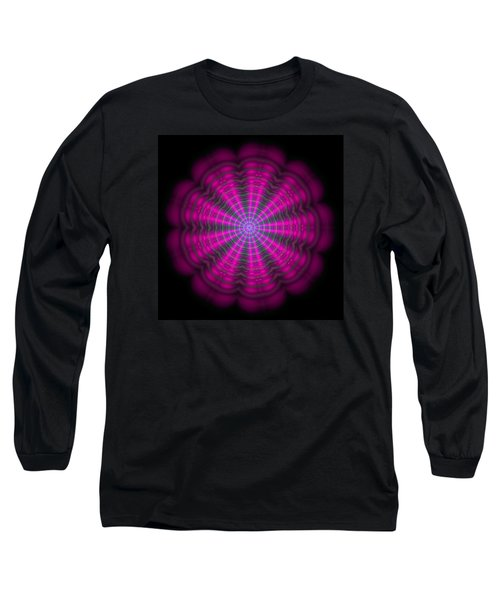 Purple Lightmandala Ripples Long Sleeve T-Shirt by Robert Thalmeier