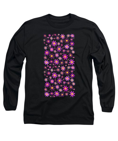 Purple Polka Long Sleeve T-Shirt