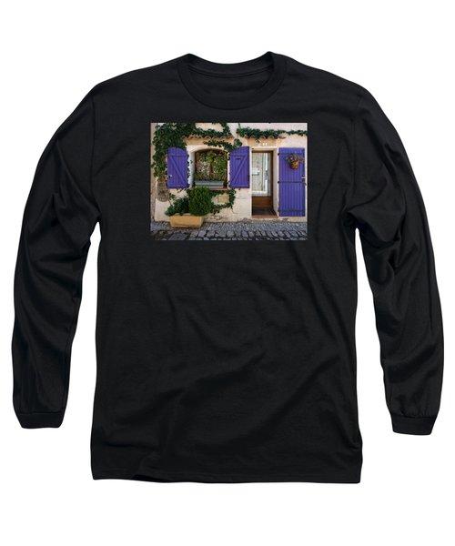 Purple Shutters Long Sleeve T-Shirt