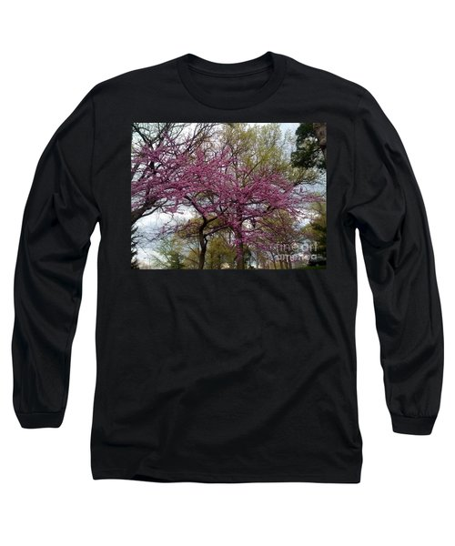 Purple Spring Trees Long Sleeve T-Shirt