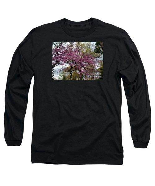 Purple Spring Trees Long Sleeve T-Shirt