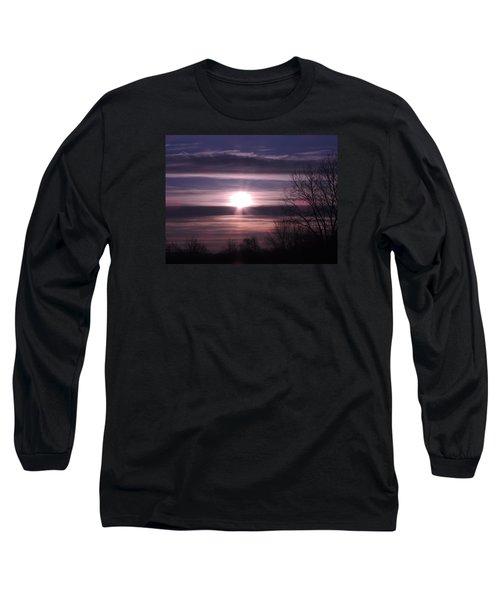 Purple Sunrise Long Sleeve T-Shirt by Teresa Schomig