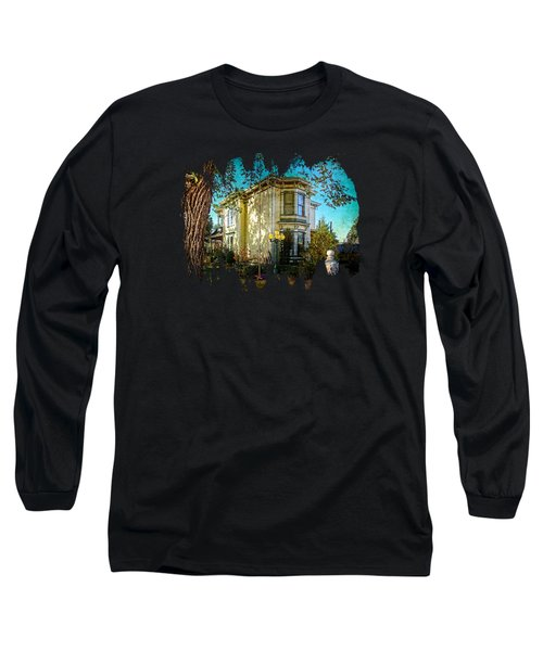 House With The Purple Swing Long Sleeve T-Shirt by Thom Zehrfeld