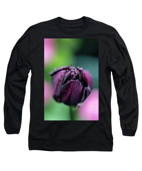 Purple Tulip Long Sleeve T-Shirt by Martina Fagan