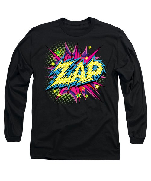 Purple Zap Long Sleeve T-Shirt