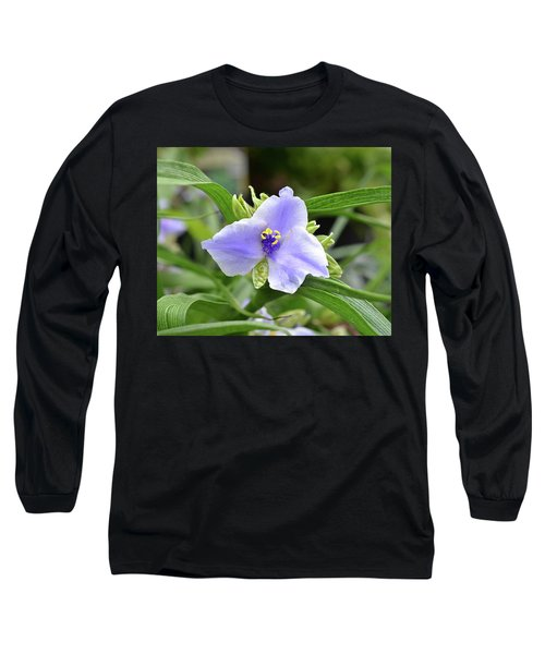 Spiderwort Long Sleeve T-Shirt by Ronda Ryan