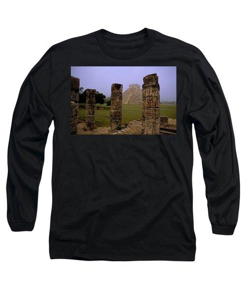 Pyramid At Chichen Itza Long Sleeve T-Shirt