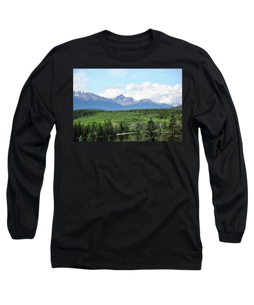 Long Sleeve T-Shirt featuring the photograph Pyramid Island - Jasper Ab. by Ryan Crouse