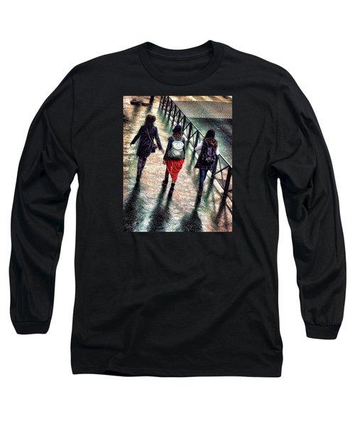 Long Sleeve T-Shirt featuring the photograph Quai Des Tuileries by Jim Hill