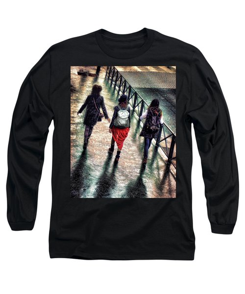 Long Sleeve T-Shirt featuring the photograph Quai Des Tuileries by Jim Hill