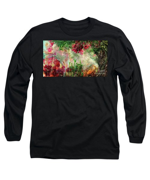 Long Sleeve T-Shirt featuring the digital art Qualia's Jungle by Russell Kightley