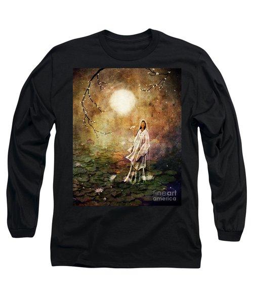 Quan Yin In A Lotus Pond Long Sleeve T-Shirt
