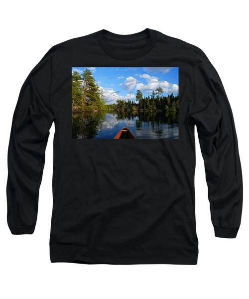 Quiet Paddle Long Sleeve T-Shirt by Larry Ricker