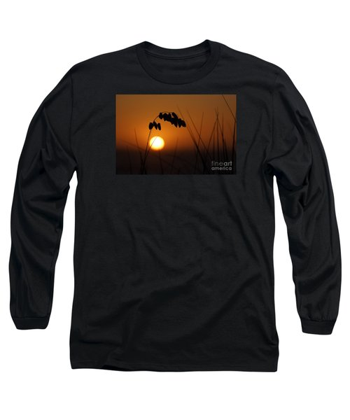 Long Sleeve T-Shirt featuring the photograph Quiet Sunset by Inge Riis McDonald