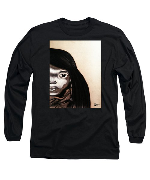 Quilcene.1912.northwest Tribes Long Sleeve T-Shirt by Ayasha Loya