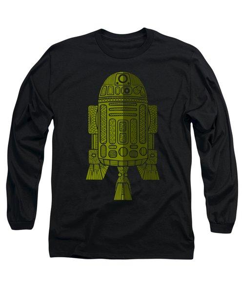 R2d2 - Star Wars Art - Green 2 Long Sleeve T-Shirt