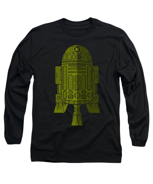 R2d2 - Star Wars Art - Green 2 Long Sleeve T-Shirt