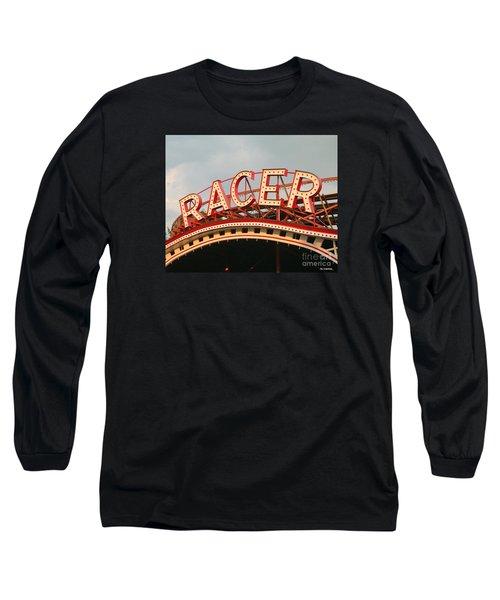Racer Coaster Kennywood Park Long Sleeve T-Shirt