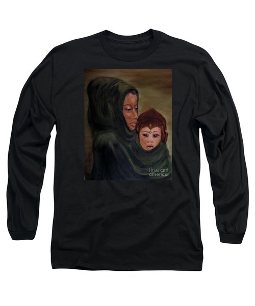 Long Sleeve T-Shirt featuring the painting Rachel And Joseph by Annemeet Hasidi- van der Leij