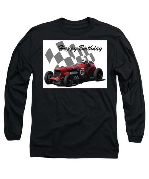 Racing Car Birthday Card 3 Long Sleeve T-Shirt