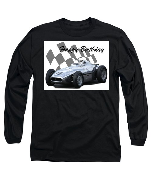 Racing Car Birthday Card 7 Long Sleeve T-Shirt