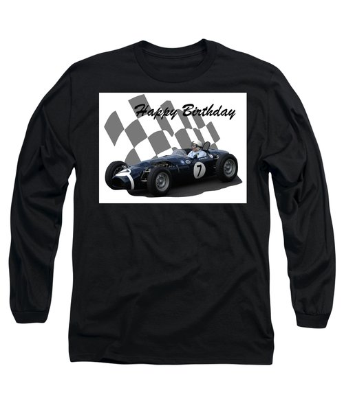 Long Sleeve T-Shirt featuring the photograph Racing Car Birthday Card 8 by John Colley