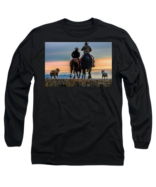 Racing To The Sun Wild West Photography Art By Kaylyn Franks Long Sleeve T-Shirt