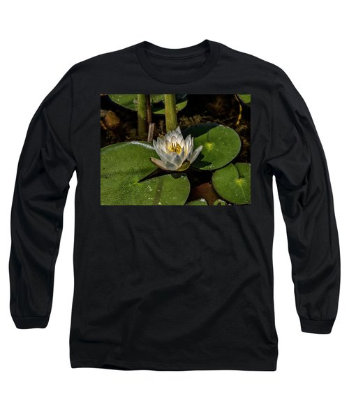 Radiant White Pond Lily  Long Sleeve T-Shirt