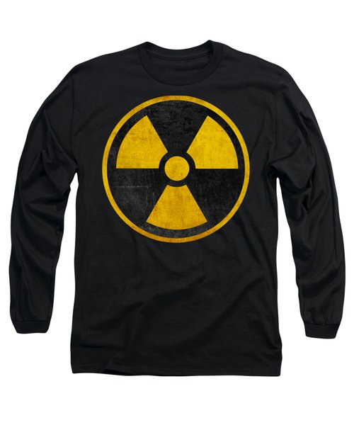 Vintage Distressed Nuclear War Fallout Shelter Sign Long Sleeve T-Shirt
