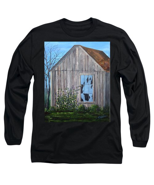 Rags, Sweet Peas And Time Long Sleeve T-Shirt by T Fry-Green
